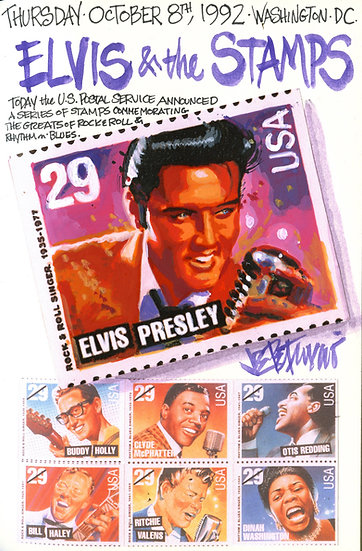 This Day in Elvis History 10-8-1992 ELVIS & THE STAMPS by Joe Petruccio