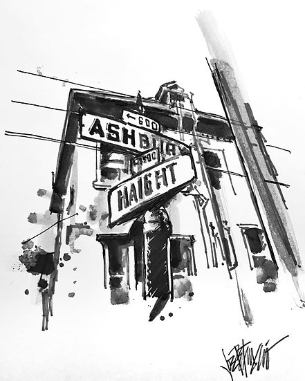 13 ASH Original Ink on Paper by Joe Petruccio