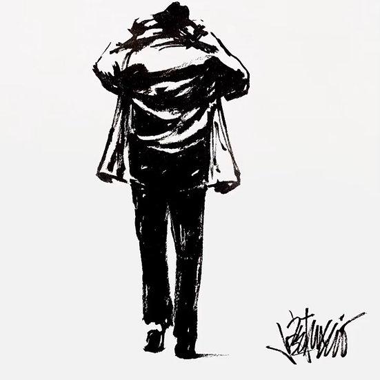 27 COAT Original Ink on Paper by Joe Petruccio - Rocky