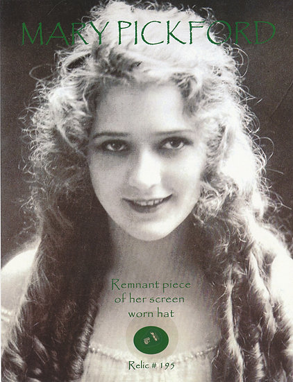 Todd Mueller Relic Card 195 - Mary Pickford Screen Worn Clothing