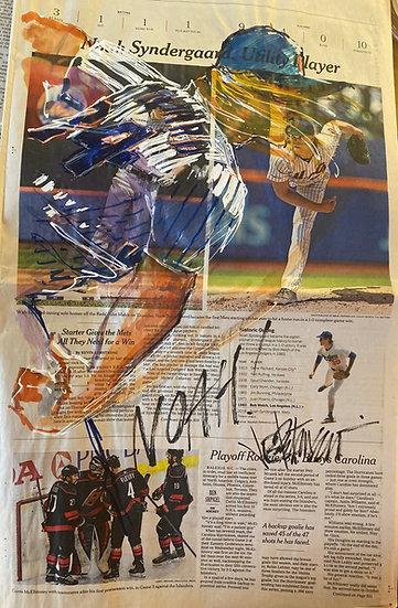 NOAH! New York METS Noah Syndergaard Original NY Times by Joe Petruccio