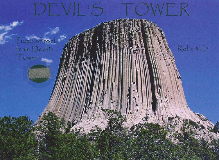 Todd Mueller Relic Card 067 - Devils Tower