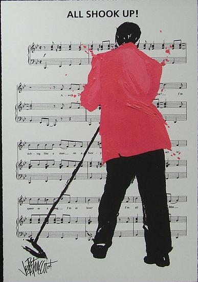 Elvis Presley ALL SHOOK UP Limited Edition Fine Art on Sheet Music