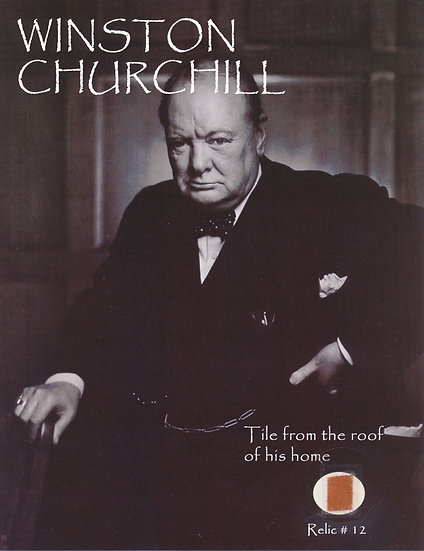 Todd Mueller Relic Card 012 - Winston Churchill Home Roof Tile