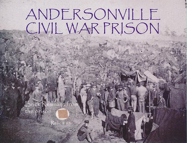 Todd Mueller Relic Card 064 - Andersonville Civil War Prison