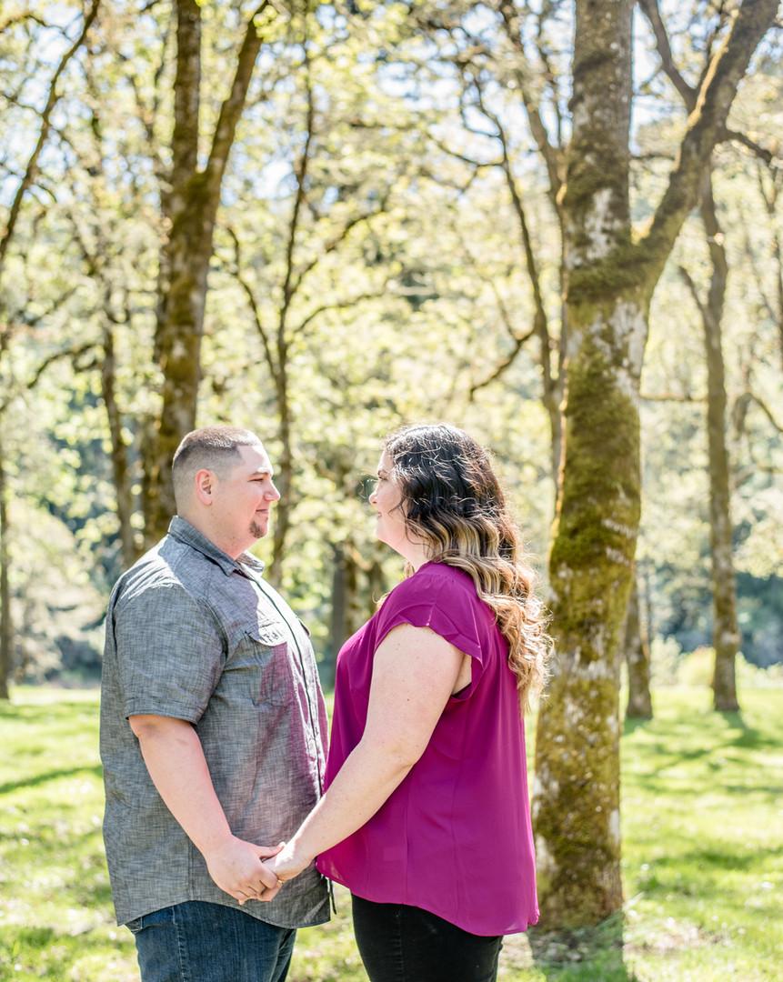 Engaged couple at Roseburg Rod and Gun Club