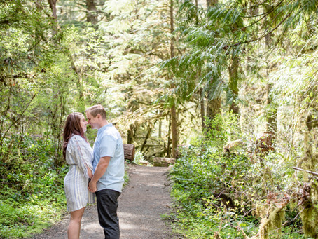 Engagement Session ~ Skyler & Robert ~ Wolf Creek Falls, Roseburg OR