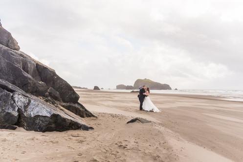 bandon oregon beach wedding