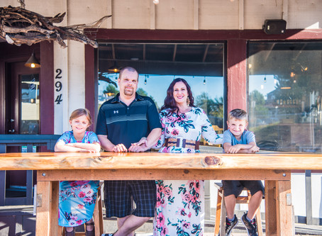 Homegrown Family Session ~ Homegrown Restaurant, Florence OR