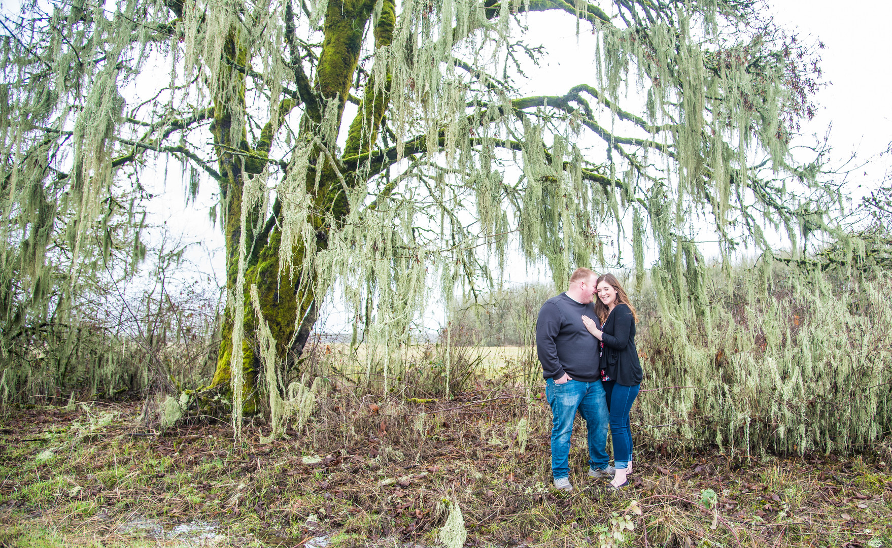couple pose at Finley Wildlife Refuge