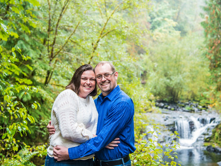 Engagement Session ~ Brenda & Brian ~ Sweet Creek Falls, Florence OR
