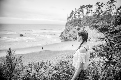 Senior portrait at beach