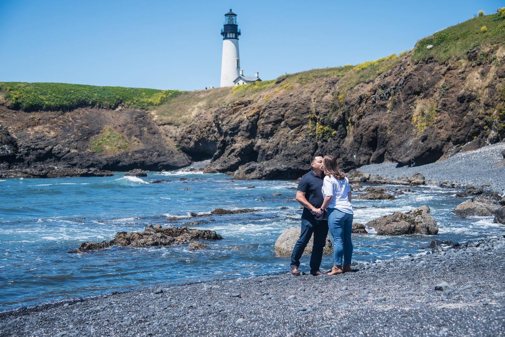 Couple at Yaquina Head Lighthouse