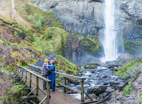 Engagement Story ~ Janice & Will ~ Latourell Falls, Portland OR