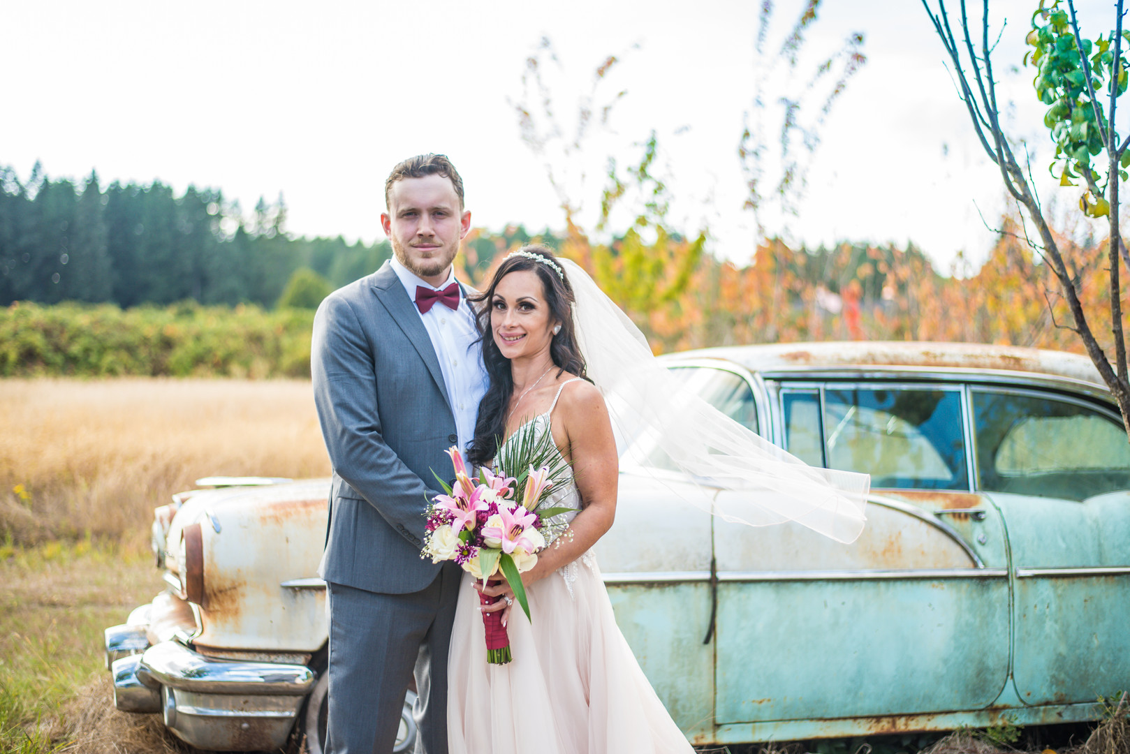 Husband and wife with Pontiac