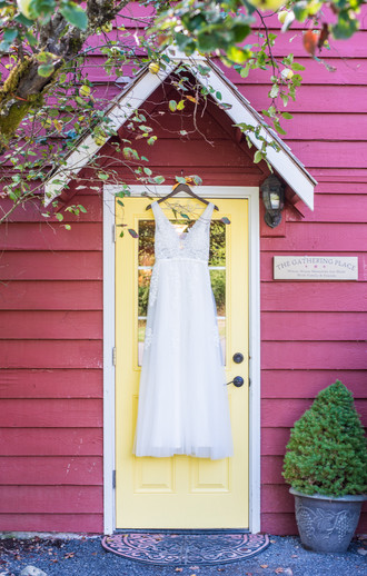 Wedding dress at Pomeroy Farm