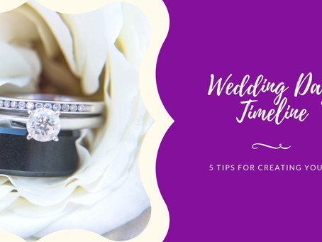 5 Tips for Creating a Wedding Day Timeline