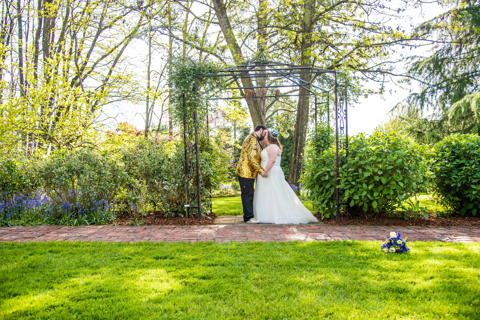 Bride and groom at Ainsworth House