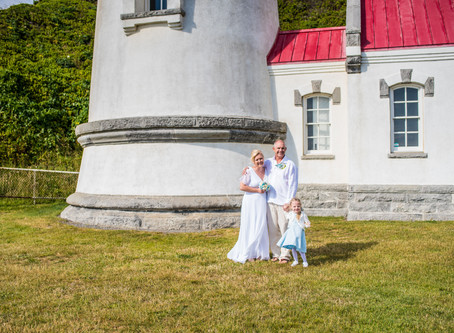 Seymour Wedding ~ Danna & Michael ~ Heceta Head Lighthouse, Florence OR