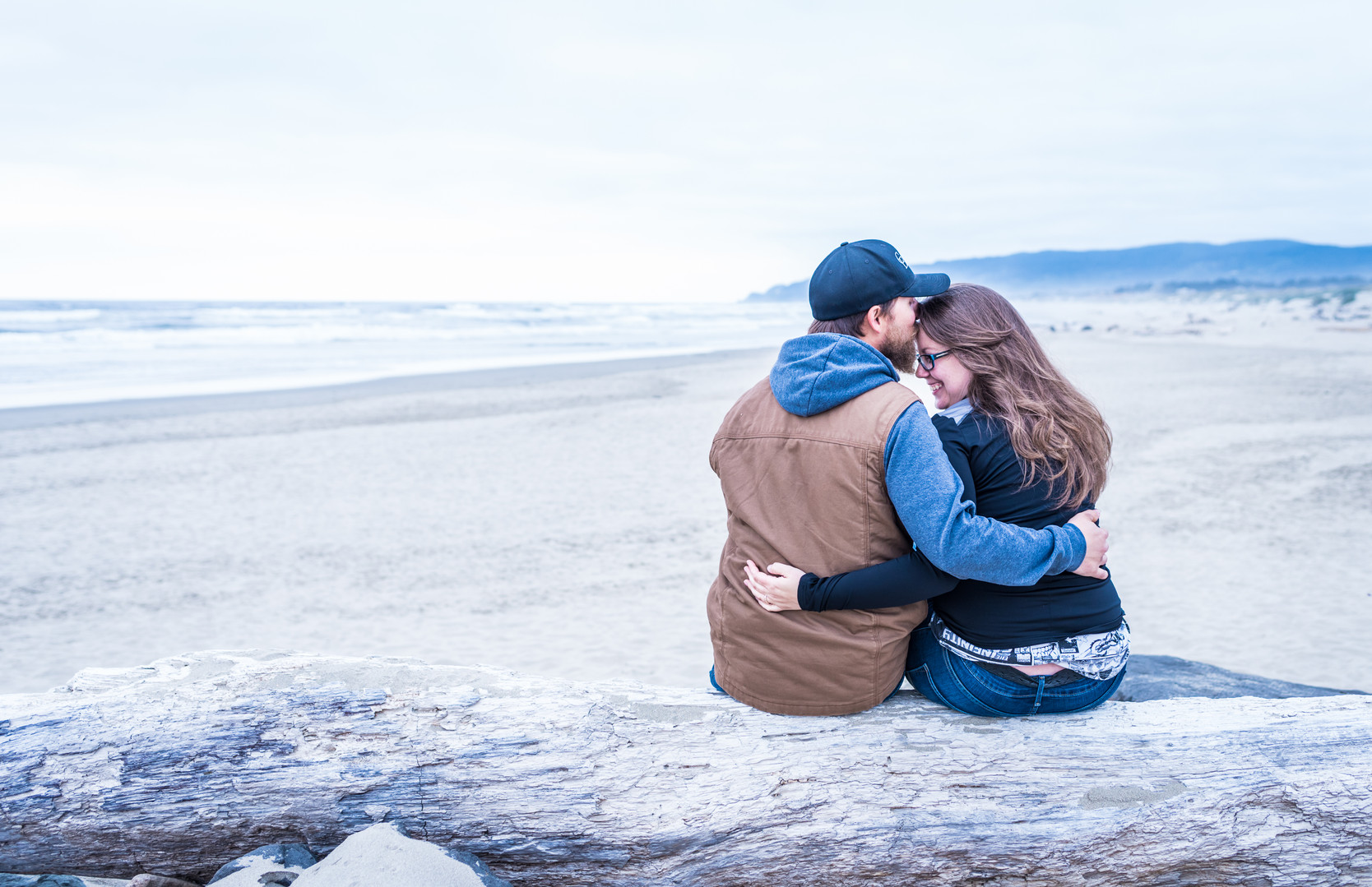couple portrait at North Jetty beach