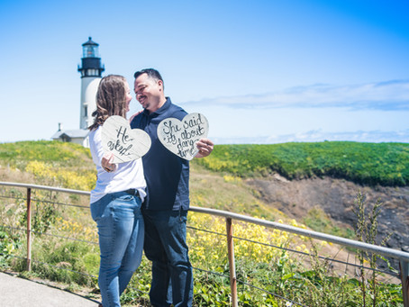 Engagement Session ~ Tina & Sean ~ Yaquina Head Lighthouse, Newport OR