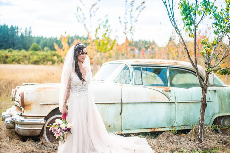 Bridal Portrait with Pontiac