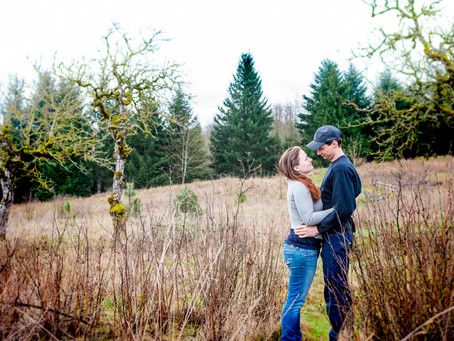 Engagement Session ~ Brittany & Nathen ~ Powell Butte Park, Portland OR