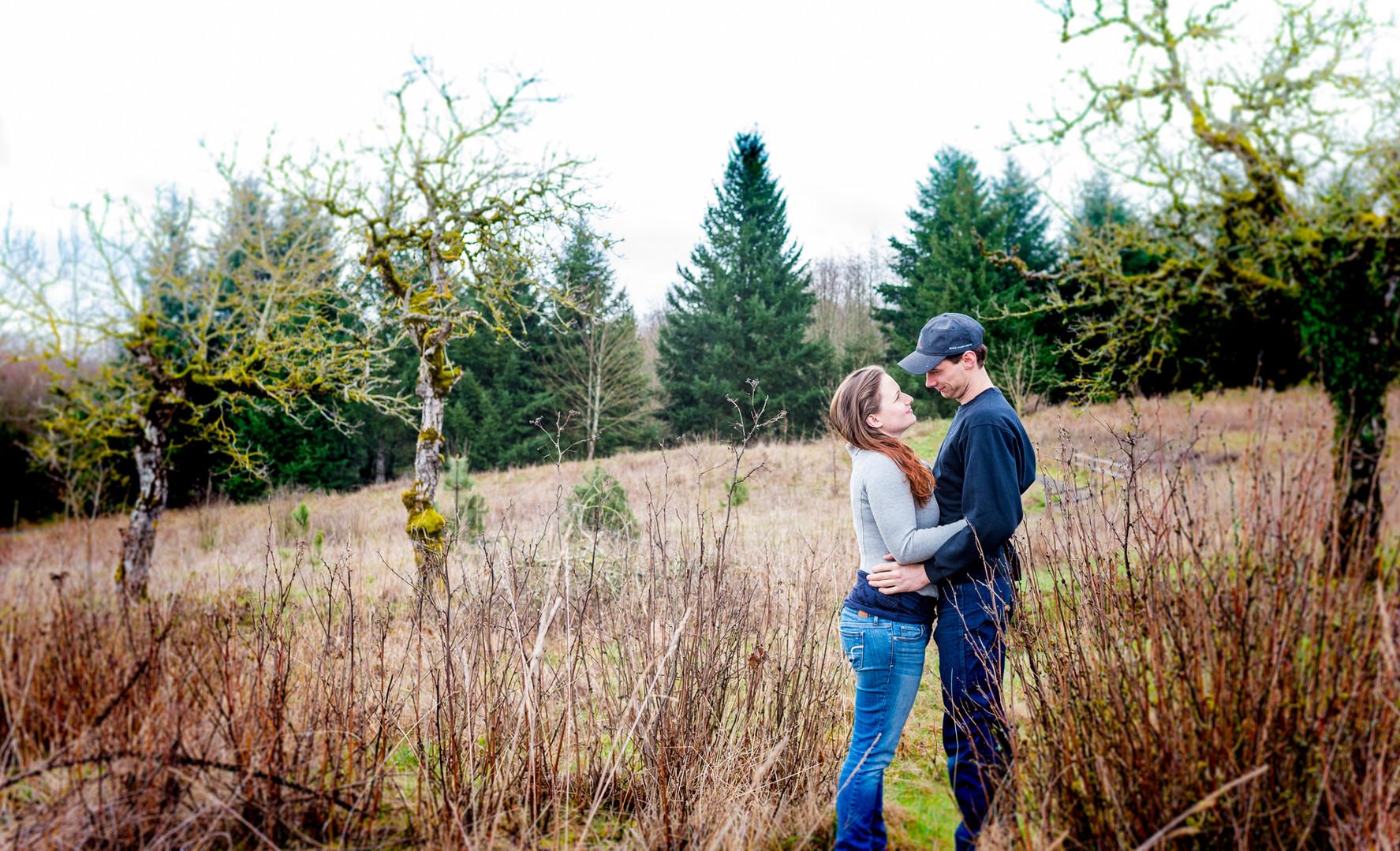 Couple at Powell Butte Park
