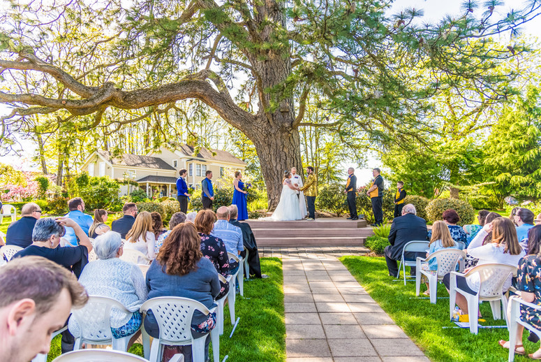 Wedding ceremony at Ainsworth House