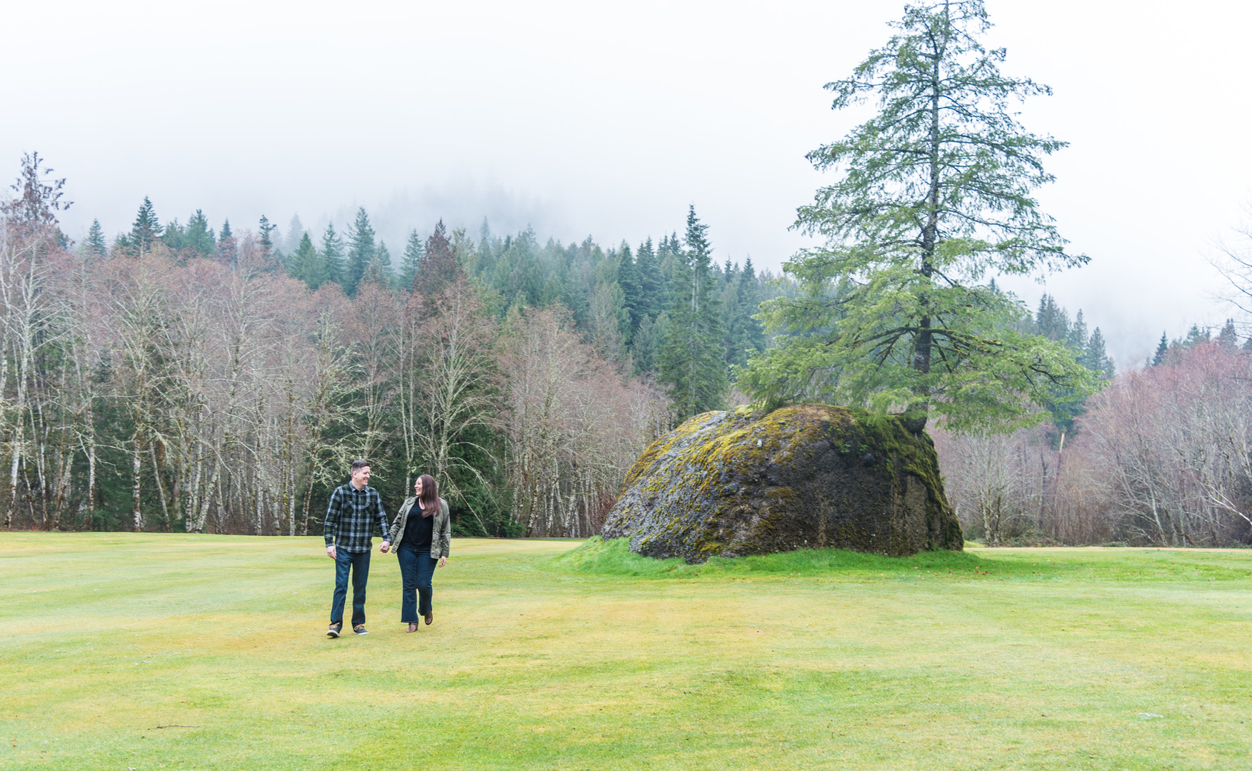 couple walk together at Resort at the Mountain