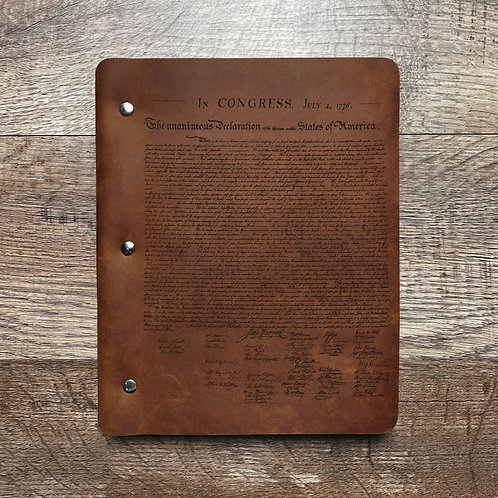 Founding Fathers - Refillable Leather Binder