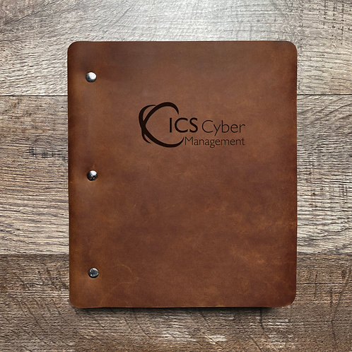 Custom Order Chad S - Wide Cut - Refillable Leather Binder 20210111