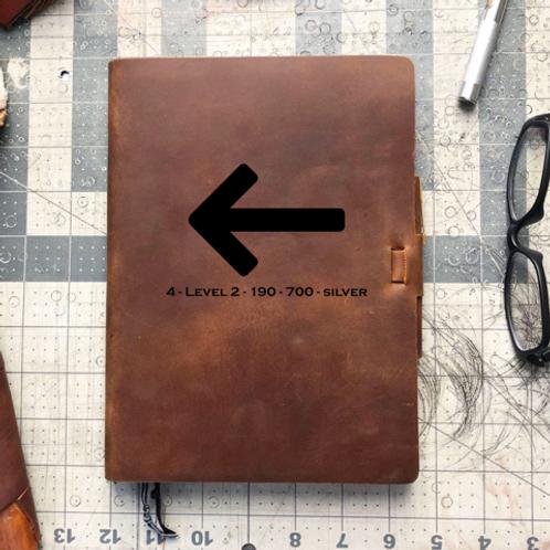 Custom Order Ernie L 20200609 - Metric Cut - Refillable Leather