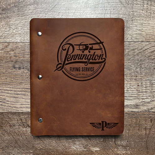 Custom Order Ryan P - Slim Cut - Refillable Leather Binder 20201113