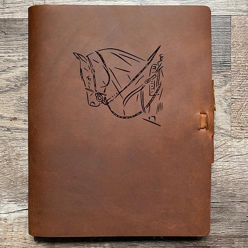 Custom Order Julianna - Composition Cut - Refillable Leather Journal 20210128