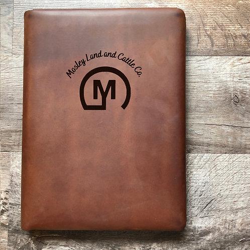 Custom Order Jeffrey M - Executive Cut - Refillable Leather Folio 202101074