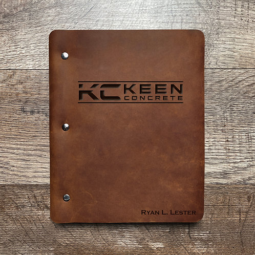 Custom Order Linda L - Slim Cut - Refillable Leather Binder Presale 20200807