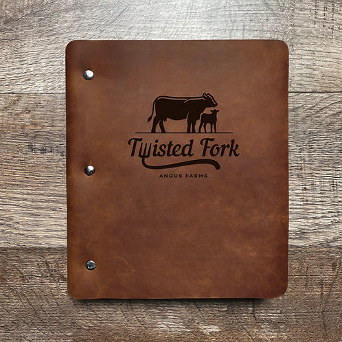 Custom Order Mike H - Wide Cut - Refillable Leather Binder 20201210