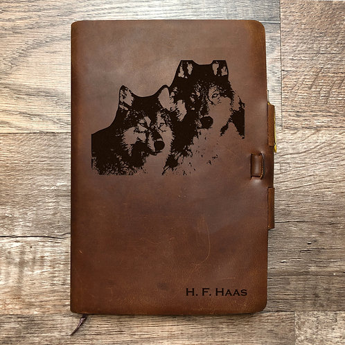 Custom Order Donna H - Classic Cut - Refillable Leather Journal 20201118