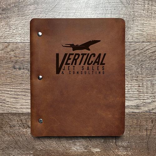 Custom Order Terri M - Slim Cut - Refillable Leather Binder 20201201
