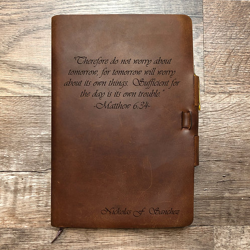 Custom Order Nick S - Classic Cut - Refillable Leather Journal 20200902