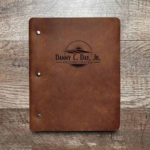 Custom Order Bradley D - Slim Cut - Refillable Leather Binder 20210201