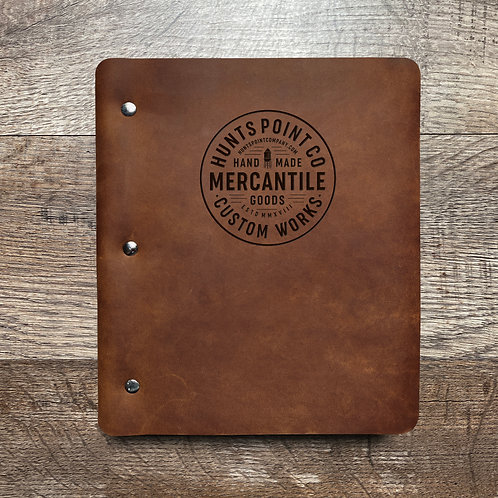 Custom Order Andrew P - Wide Cut - Refillable Leather Binder 20201119