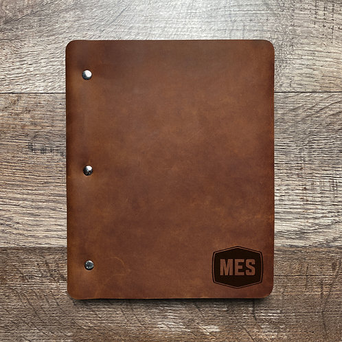 Custom Order Chris K - Slim Cut - Refillable Leather Binder 20201118