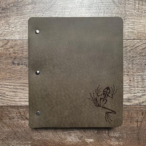 Custom Order Jodi D - Wide Cut - Refillable Leather Binder 20201210