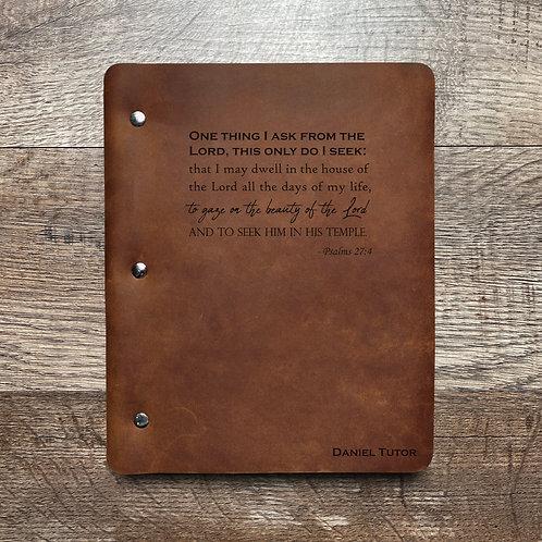 Custom Order Daniel T - Slim Cut - Refillable Leather Binder 20200924