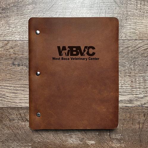 Custom Order Kevin P - Slim Cut - Refillable Leather Binder 20200903