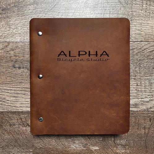 Custom Order Adam R - Wide Cut - Refillable Leather Binder 20210108