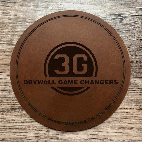 Custom Order Ray G - Leather 4 Coaster Set - 20210128
