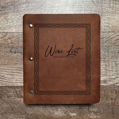 Custom Order Jeff B - Wide Cut - Refillable Leather Binder 20201119